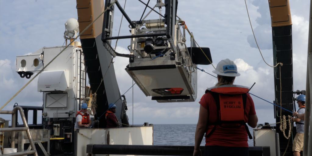 Engineer leads deployment of Deep-see on the NOAA Ship Bigelow